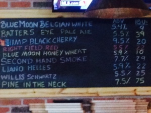 What's on tap today? This is a list of beer available today. The selections have a beer for everyone.