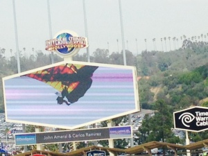 Look at Navy Seals on the screen at Dodgers stadium
