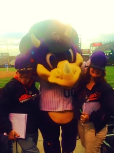 Dinger the loveable,mischievous,mascot covers our Giants caps