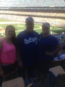 The wonderful family of Dodger fans sat in front of us for the final game