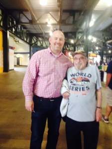 Stephen, a local from the Atlanta area stopped to admire Bert's cap and talk baseball and life.