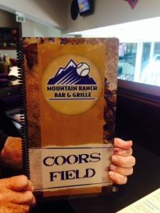 Mountain Ranch bar and grill menu