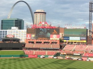 Beautiful view of the arch in St Louis