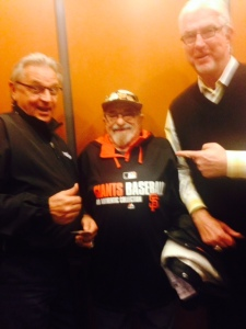 Duane Kuiper and Mike Krukow graciously spoke to us when we had a chance meeting in the elevator at the stadium