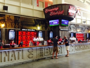 Lots of choices of beer inside the stadium