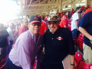 Bert and this Reds fan share talk on baseball, religion, and life