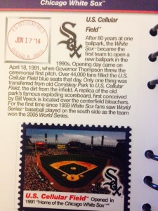 Our 1st stamp at US Cellular field