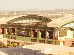 View of Chase field from Compass at the Hyatt Regency Phoenix