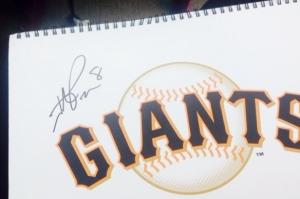 Hunter Pence autographed my score book