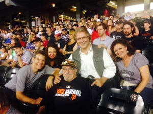 Bert was surrounded by White Sox fans who had a great night last night