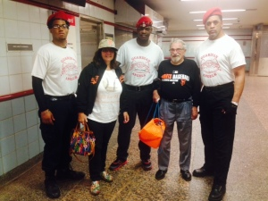Guardian Angels as we exited the red line.