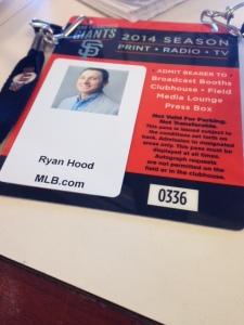 Ryan Hood MLB reporter for the Giants