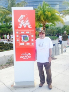 Bert outside Marlins stadium