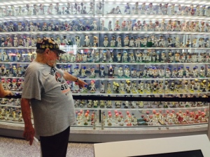 Marlins display of bobble heads from all teams.