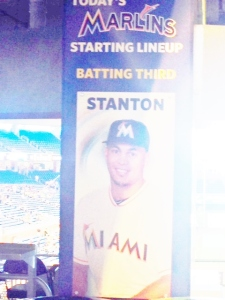 Lineups are posted on the poles of the promenade level