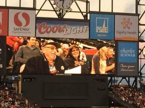 The Steinbergs make it to the big screen at AT&T park.