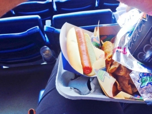 Philly dog and chips
