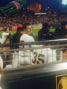 Buster Posey and Brandon Crawford are both good players and good family men. They are also patient with the fans.