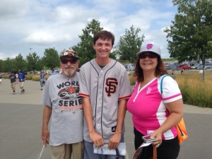 Bert, Eton, and Le Anne all hoping for a big Giants victory