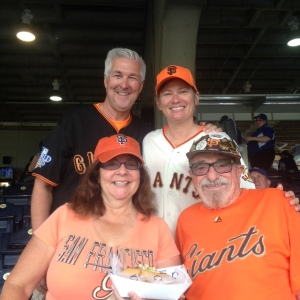 Jim and Jennifer who we met in Milwaukee follow the Giants to KC