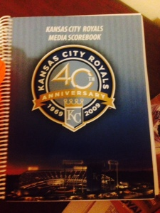 Media score book that Royals gave Bert