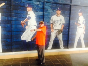 Bert did pose with the Royals greats