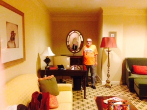 Our suite here took the sting out of the trouble getting out of Chicago.
