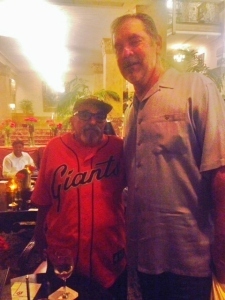 Bert and Bochy- a big fan with a big league Coach
