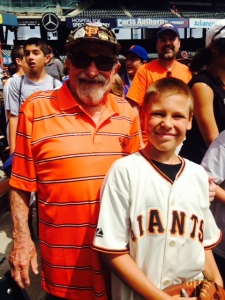 Young and Veteran( can't call Bert Old) Giants fans share a love of the game