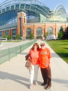 Le Anne and Bert outside Miller Park