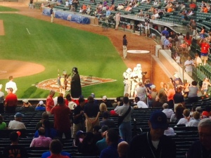 Darth and the storm troopers invade Wrigley