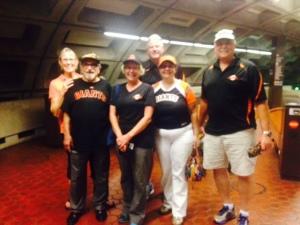 Karen,Bert,Ann,Le Anne,Ken and Ken celebrate Giants victory