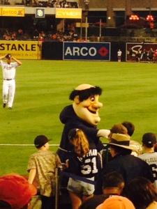 Padres mascot greets fans