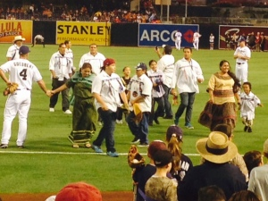 Native American dancers reminded me of the drumming skills of my Lakota friends in Texas.