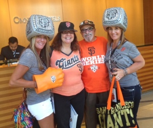"Gamer ""Angels"" who are diehard supporters of the Giants"