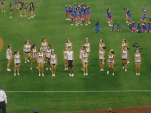 Cheer squad performed pre-game.
