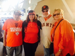 Fellow Giants fans from San Mateo.
