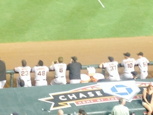 The boys watch as Vogie gives the Dbacks a 4-0 lead