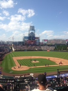 Coors field on a beautiful sunny day