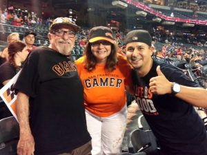 Bert,Le Anne, and Tim- a diehard Giants fan from Arizona