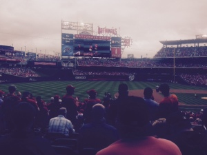 Warm, cloudy, and awash in a sea of white Nats towels  Nationals Park was alive for 4 innings
