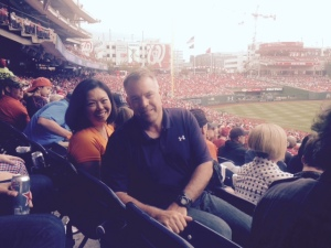 Brig General Richard M Murphy former Giant bat boy) and his wife
