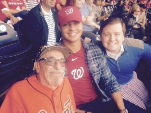 Nats fans were baseball savvy and wanted photos with Bert
