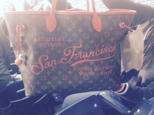 Limited edition Louis Vuitton bag that I think would be perfect for this Giants fan.